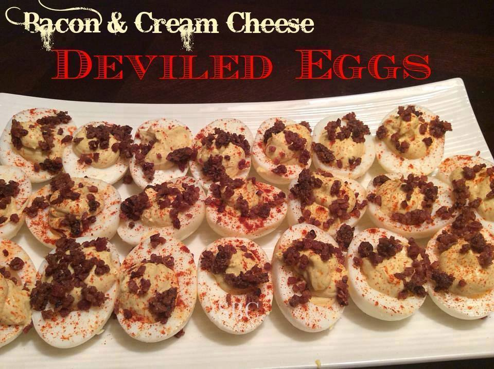Bacon Cream Cheese Deviled Eggs