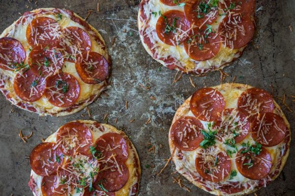 Garlic Herb Mini Pizzas